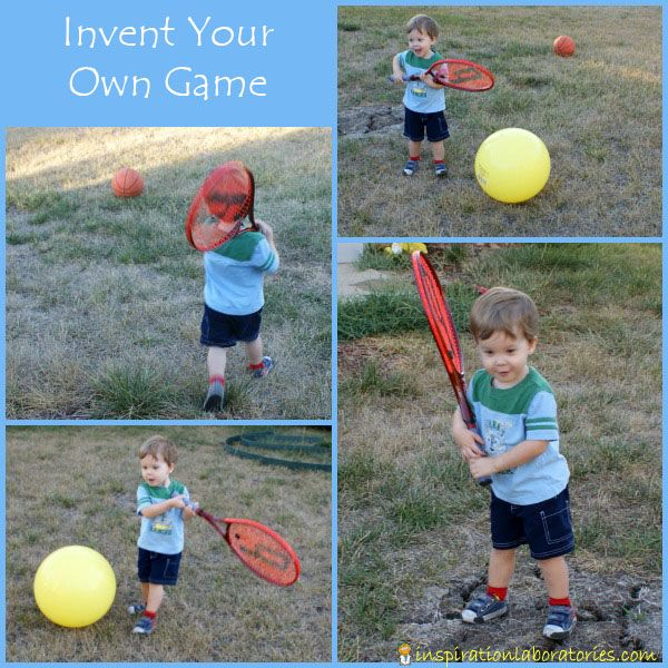 Over 20 Games to Play Outside! Invent your own ball game, play soccer, try a variation on golf, make an obstacle course, and more!