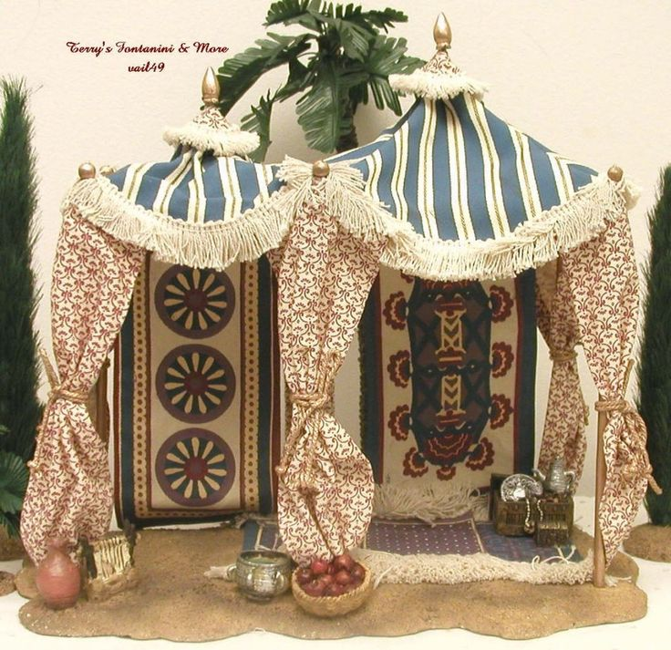"FONTANINI DEPOSE ITALY 5"" KING'S PAVILION NATIVITY VILLAGE TENT #50508 MIB #Fontanini"