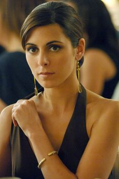 Meadow Soprano (Jamie-Lynn Sigler).  Actually looked really scary, like a mobster's daughter.