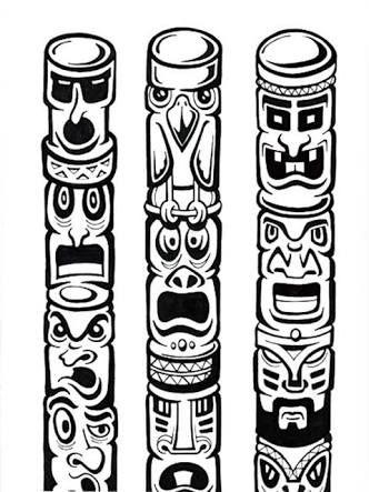 tlingit totem poles coloring pages - photo#15