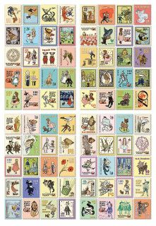 Wizard Of Oz mini stamp/sticker set containing 4 different sheets & a total of 80 stickers  - Each sheet measures 13.0cm x 9.0cm - Imported from Korea - 80 stickers