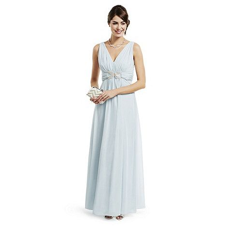 No. 1 Jenny Packham Designer pale blue loop chiffon maxi dress- at Debenhams Mobile