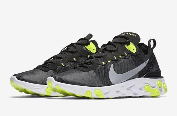284107af65b6 Release Date  Nike React Element 55 Black Volt