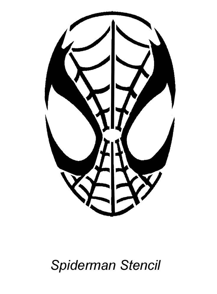 Image detail for -Spiderman - Stencil Outline Version