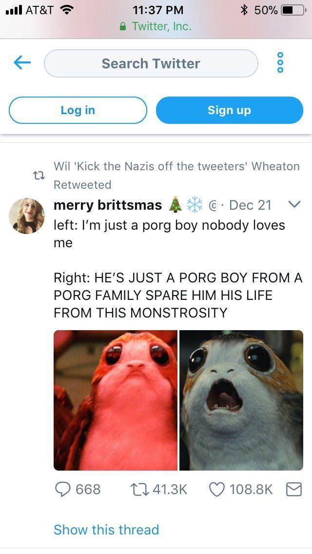 Porg Star wars