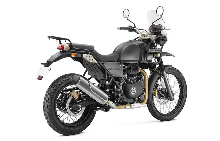 This Royal Enfield Himalayan will be available in two color variants; this is the Granite color