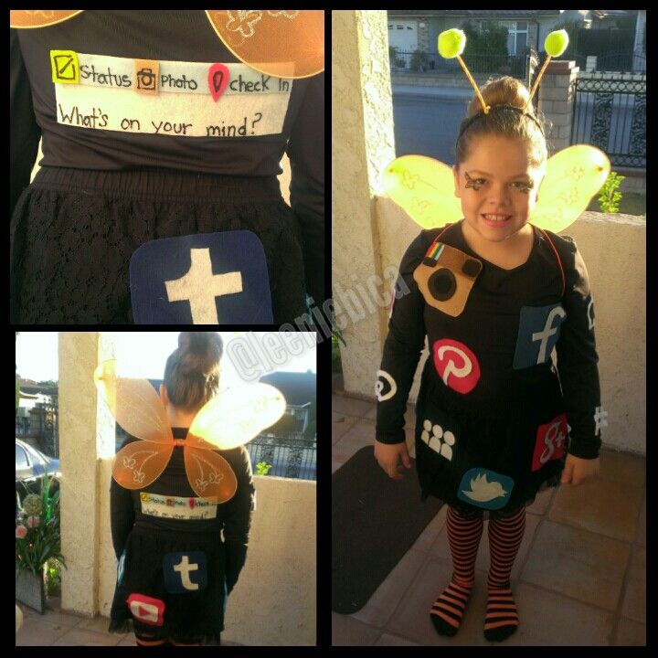 Social Butterfly costume I made for my niece. So simple and cute! @leeniebica