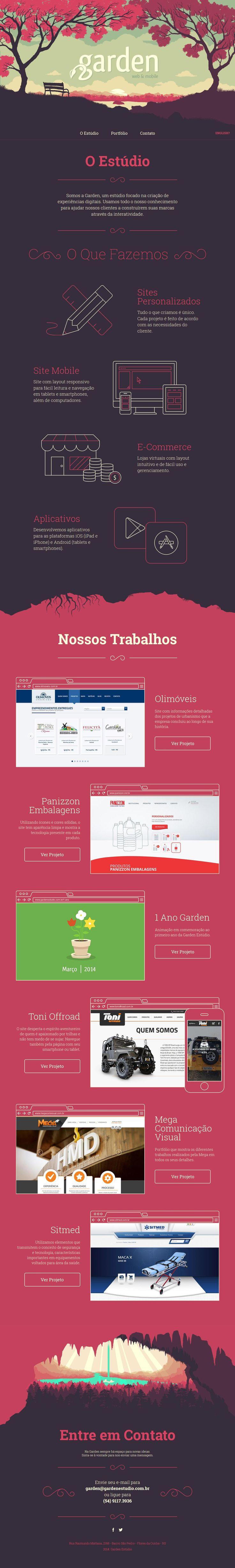 Unqiue Web Design, Garden Estúdio #WebDesign #Design (http://www.pinterest.com/aldenchong/)