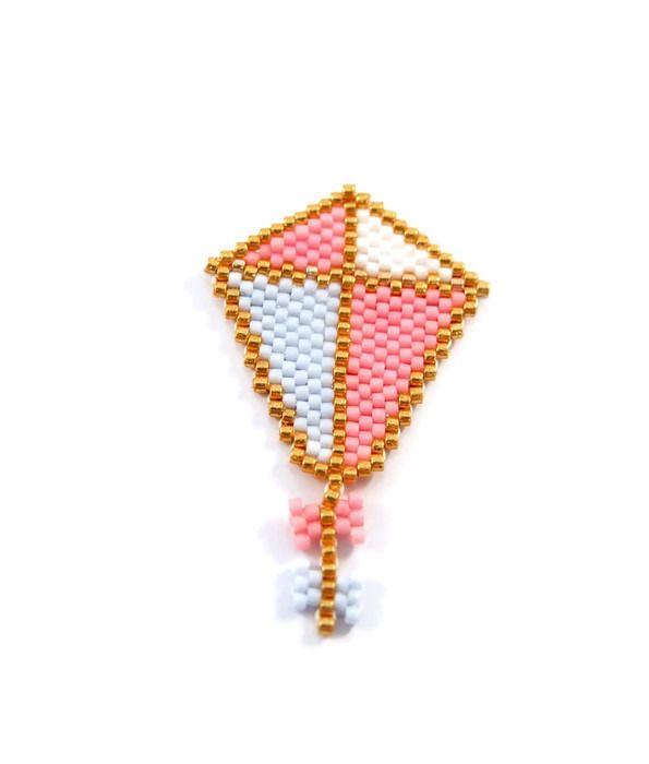 Broche cerf-volant en perles Miyuki   5x3