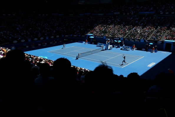 A general view of Rod Laver Arena during day one of the 2013 Australian Open at Melbourne Park on January 14, 2013 in Melbourne, Australia.
