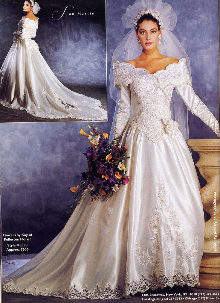 Celebrity Wedding Dresses 1990s : Dresses bridal wedding gowns s lace making