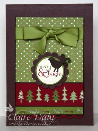 Image detail for -Stampin' Up! Jolly Holiday DSP Christmas Card Tutorials ... - Stampin ...