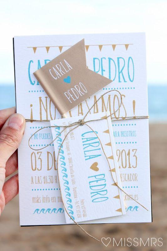 La boda de Carla Pedro: Las invitaciones
