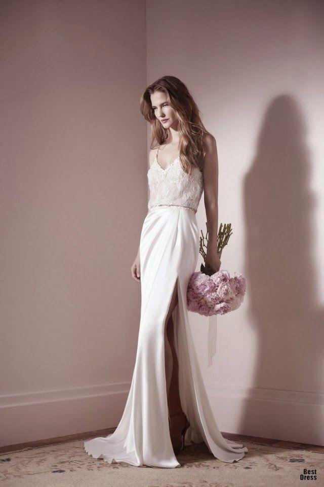 Modernos y sencillos vestidos de novia para el 2014 | Vestidos | Moda 2013 - 2014