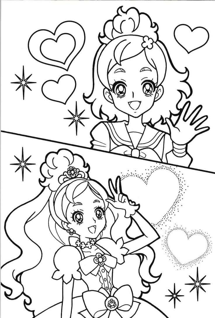 oasidelleanime precure coloring pages - photo #45