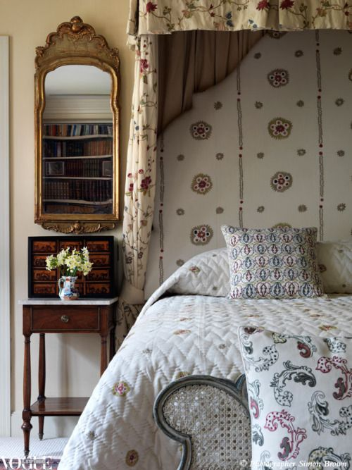 """voguelivingmagazine: """" Kit Kemp imbues a sense of magic in the fabric, bedspreads and cushions produced with Chelsea Textiles. From 'Finely Woven', a story on page 114 of Vogue Living July/Aug 2012, on news stands and Zinio now. Photograph by Simon..."""