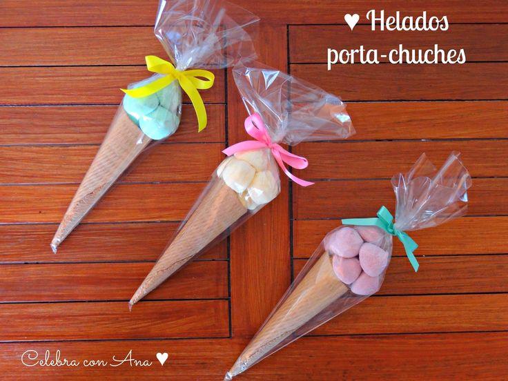 ♥ Helados porta-chuches - Celebra con Ana
