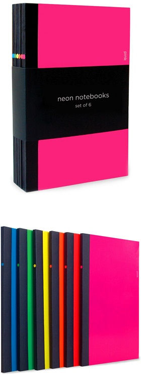 neon notebook set