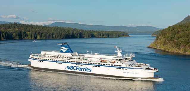 The ferry over to Vancouver Island. Sebastian and Rachel's weekend escape to the ocean resort, after her kidnapping ordeal.