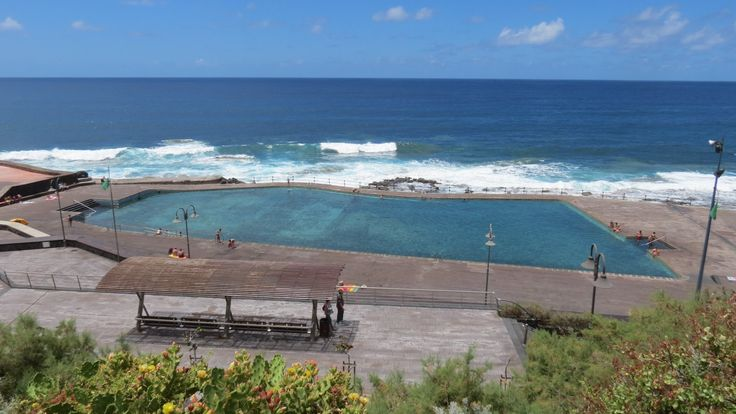 Canary Islands - Tenerife - Bajamar - Piscinas naturales  - Natural pool...