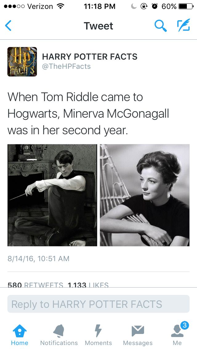 Wow. When tom riddle came to hogwarts