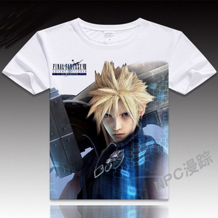 Cheap shirt garter, Buy Quality shirt software directly from China shirt calvin Suppliers: Anime Unisex Tops Tee Japanese Anime Tops Final Fantasy Cosplay T shirt Men    Casual Cosplay T Shirts