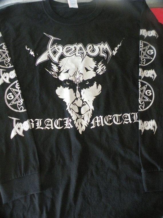 Classic Venom Black Metal  longsleeve shirt -  S to XL available- .  Bathory,HellhammerCeltic Frost,Burzum