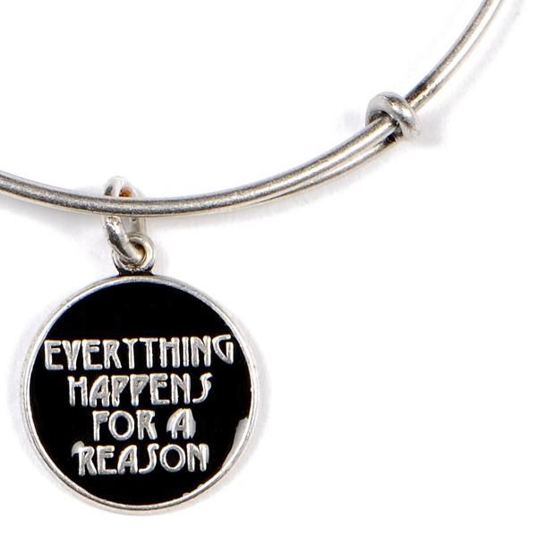 Alex And Ani Everything Hens For A Reason Expandable Wire Bangle Russian Silver