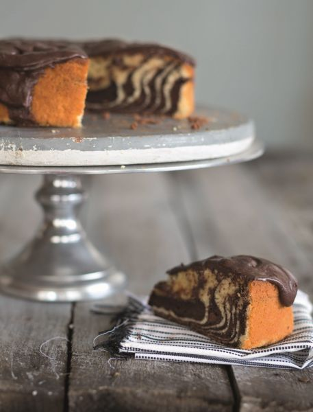 Zebra Cake by Callie Maritz and Mari-Louis Guy ( Cakebread) for book Cooking for Crowds (Photography Melody Deas)