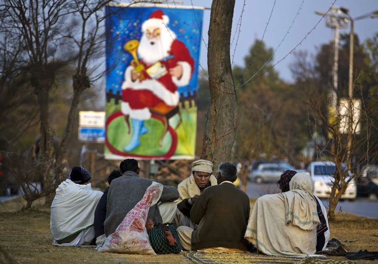 Pakistani Christians in Islamabad. Christians constitute approximately 1.6% of Pakistan's population.