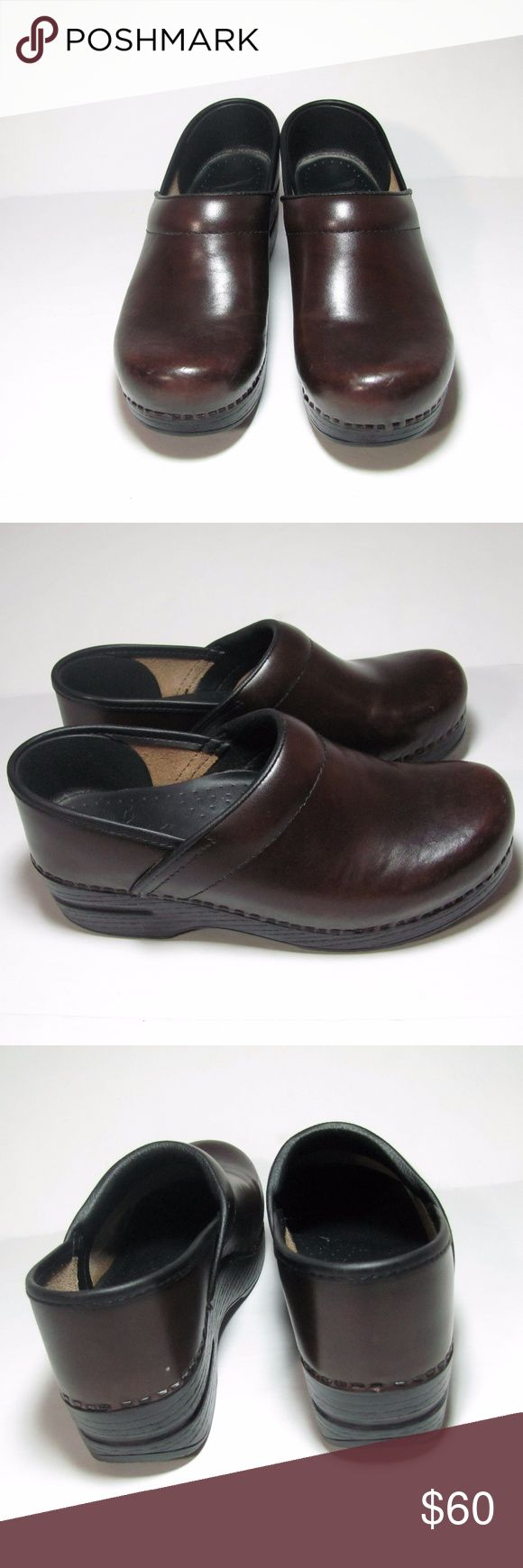 SALE Dansko size 7 Clogs Leather Brown Closed Back Dansko Clogs. Closed back. Brown Size 7. These shoes are in excellent condition. Dansko Shoes Mules & Clogs