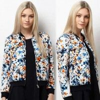 Don't we all love a little cute bomber jacket for those chilly summer nights? Well, I do! New Lady Women's Long Sleeve Retro Printed All-match Short Coat Jacket High Quality