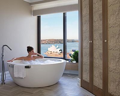 Four Seasons Sydney  I mean, that tub!!
