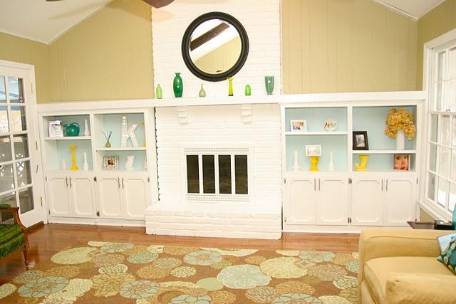 Fireplace TransformationIdeas, Homemade Gingers, Livingroom, Colors, Shelves, Painting Bricks Fireplaces, Living Room, Painting Fireplaces, White Painting