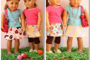 American Girl doll clothes pattern to sew a reverisble wrap skirt