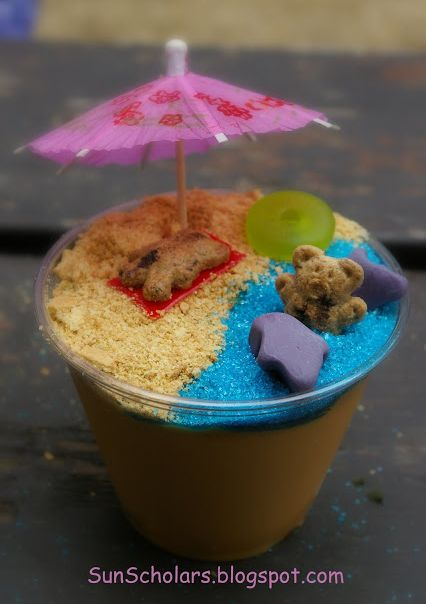 Pudding Beach Cups #Kids #Snacks