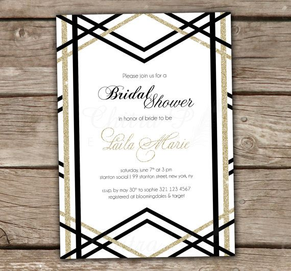 Art deco bridal shower invitations image collections invitation 34 best great gatsby art deco 1920s parties images on pinterest art deco bridal shower invitation filmwisefo
