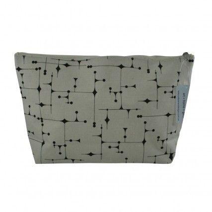 Cosmetic Bag Black Pattern   Urban Nest Design