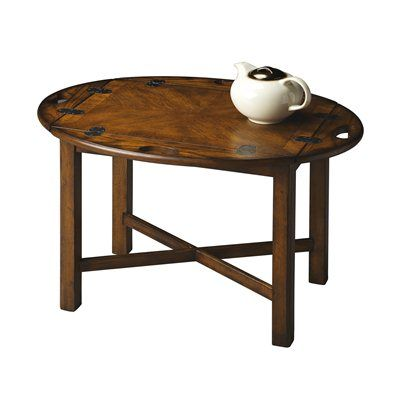 Butler Specialty 2427 Masterpiece Butler Table Butler TableLying Flat Or  With The Four Sides Turned Up