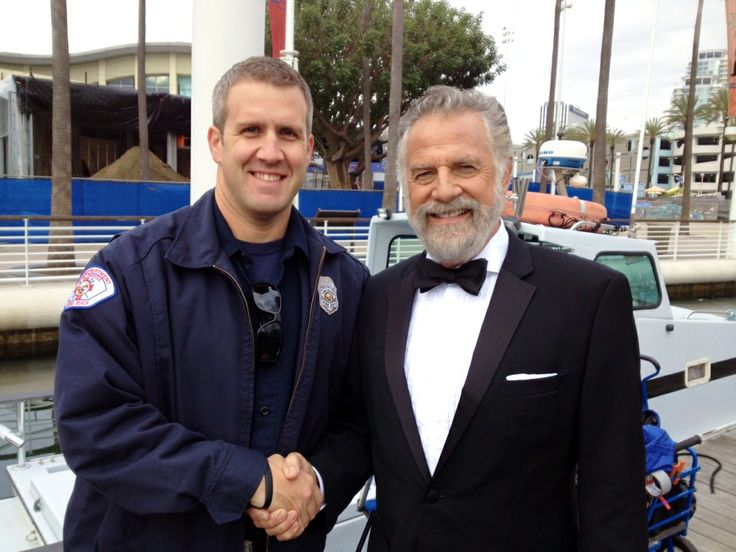 Filming at The Queen Mary - Dos Equis Commercial with The Most Interesting Man in the World & our fire marshal, Matt!