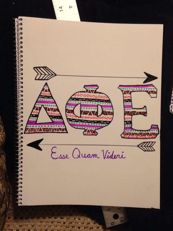 delta phi epsilon notebook