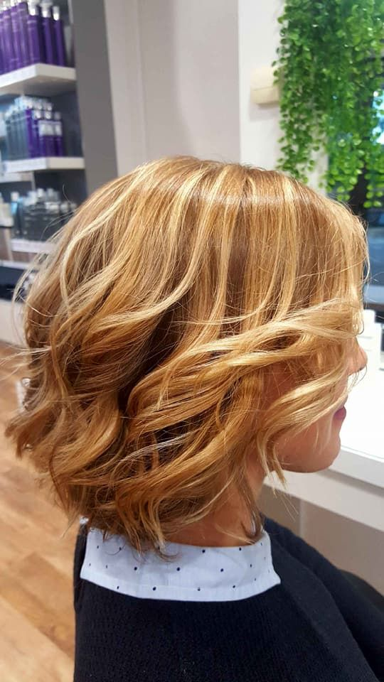 Balayage Blond Miel | Coupe mi long, Cheveux, Mi long