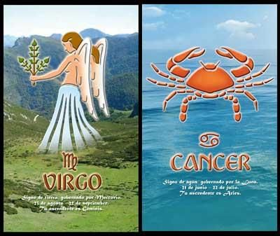 Virgo_Cancer:-Cancer woman and Virgo man have caring bond between them. They both seek safe and reliable relationship. As they both have these qualities there is good chance of having long lasting relationship...