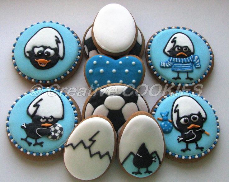 Calimero cookies Calimero is an Italian/Japanese cartoon about a charming but hapless chicken,the only black one in a family of yellow chickens and he wears half of his egg shell still on his head