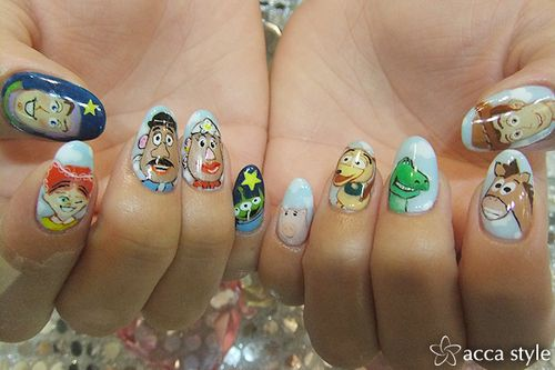Toy Story Nails this reminds me so much of liam