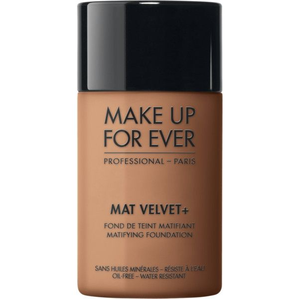 Mat Velvet + - Foundation – MAKE UP FOR EVER ($30) ❤ liked on Polyvore featuring beauty products, makeup, face makeup, foundation, make up for ever, oil free foundation and make up for ever foundation