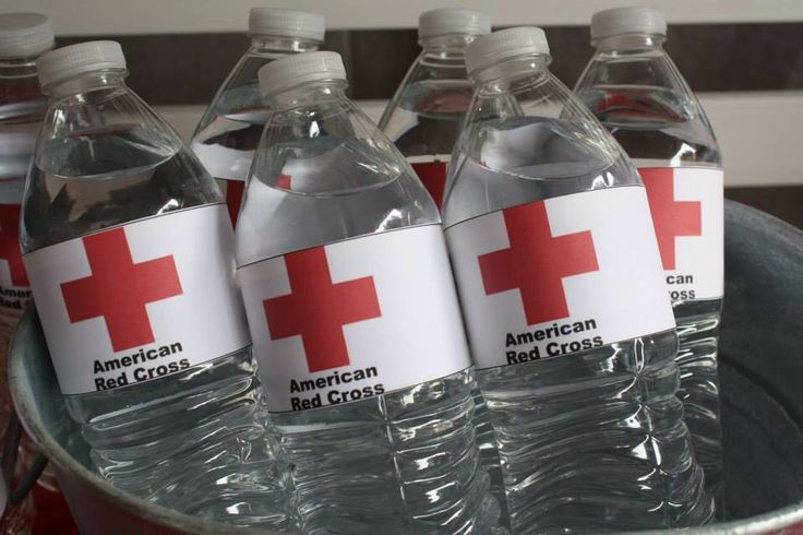 Nursing Themed Party Decorations. Water bottle labels