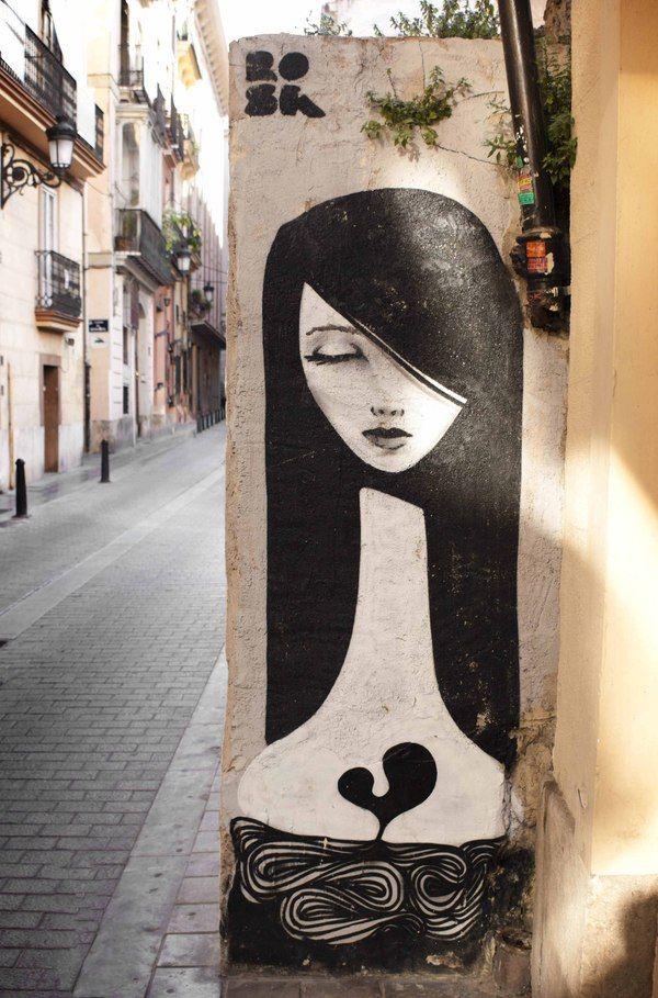 Street art II Valencia (Spain) on Behance ( Old? Really? I like this! )