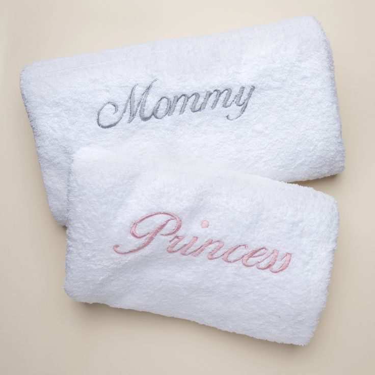 29 best personalized baby gifts images on pinterest personalized personalised towels for mommy and me or customise them with any name or word negle Images