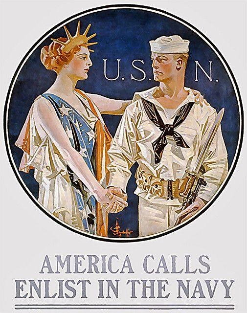 US world war one - U.S.N..Enlist//.,MAR16
